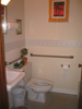 One of the 2 handicap-accessible bathrooms